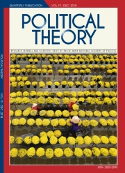 Political Theory Journal Vol.19 - Dec, 2018
