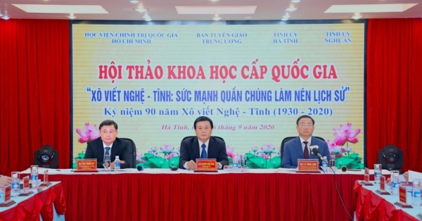"""National scientific conference """"Nghe-Tinh Soviet movement: The power of the masses makes history"""""""