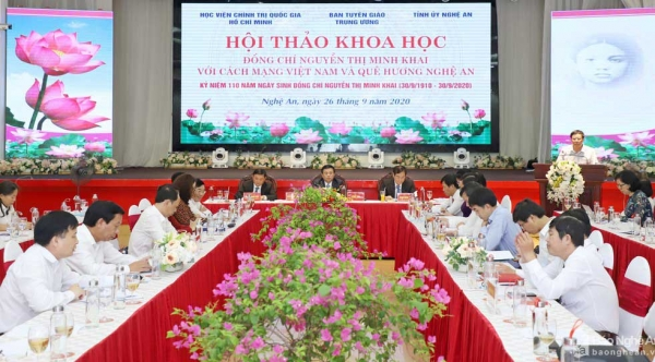 """Scientific conference """"Nguyen Thi Minh Khai with Vietnamese Revolution and Nghe An homeland"""""""