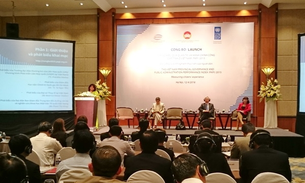 Launch of Vietnam Provincial Governance and Public Administration Performance Index 2015