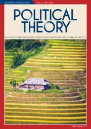 Political Theory Journal Vol3, SEP, 2014