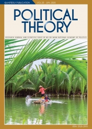 Political Theory Journal Vol.25 - June, 2020