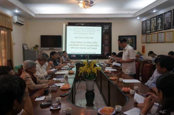 Hội thảo khoa học: Hoạt động và cống hiến của đồng chí Lê Quang Đạo với cách mạng Việt Nam