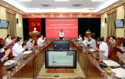 Hội nghị trao đổi nghiệp vụ công tác đánh giá và thi đua, khen thưởng