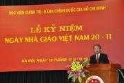 Học viện Chính trị - Hành chính quốc gia Hồ Chí Minh kỷ niệm 20-11-2013