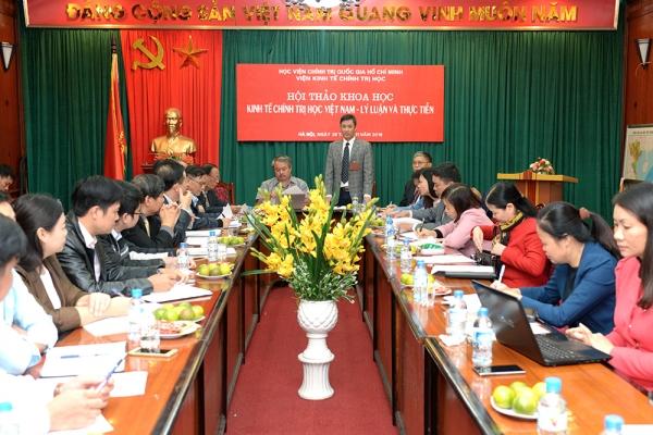 """Hội thảo """"Kinh tế chính trị học Việt Nam - lý luận và thực tiễn"""""""
