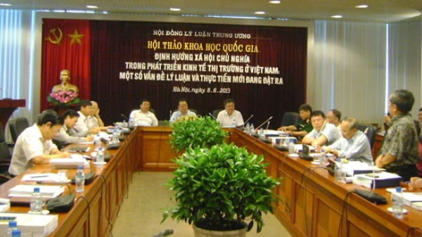 """Hội thảo quốc gia """"Định hướng xã hội chủ nghĩa trong phát triển kinh tế thị trường ở Việt Nam: Một số vấn đề lý luận và thực tiễn mới đang đặt ra"""""""