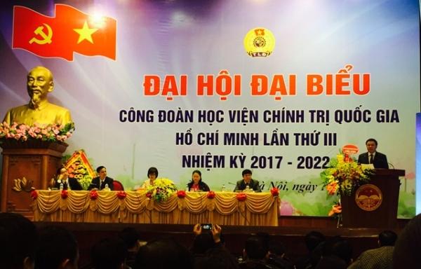 Đại hội Đại biểu Công đoàn Học viện Chính trị quốc gia Hồ Chí Minh lần thứ III, nhiệm kỳ 2017-2022