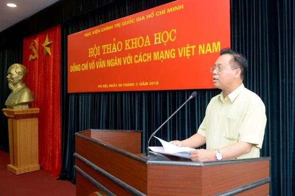 """Hội thảo khoa học: """"Đồng chí Võ Văn Ngân với cách mạng Việt Nam"""""""
