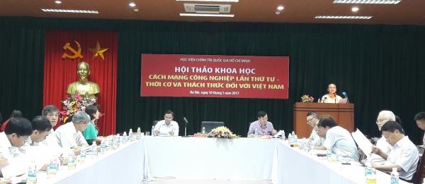 Hội thảo khoa học: Cách mạng công nghiệp lần thứ tư - Thời cơ và thách thức đối với Việt Nam