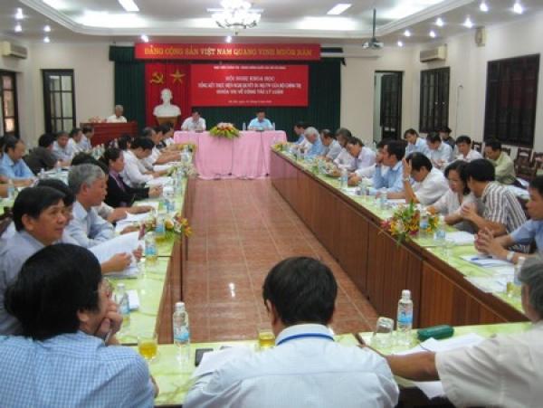 """Hội nghị khoa học tổng kết thực hiện Nghị quyết 01-NQ/TW (khóa VII) của Bộ Chính trị về """"Công tác lý luận trong giai đoạn hiện nay"""""""