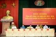 Hội nghị tổng kết năm học 2015-2016 và triển khai nhiệm vụ năm học 2016 - 2017