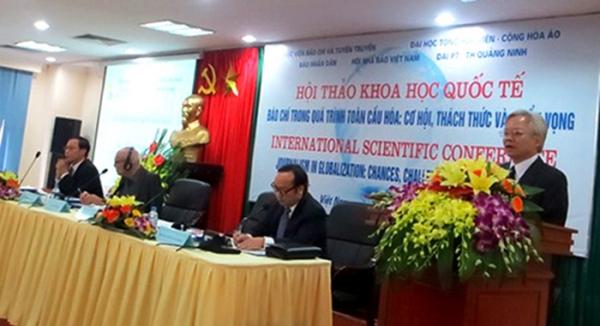 """Hội thảo khoa học quốc tế: """"Báo chí trong quá trình toàn cầu hóa: Cơ hội và triển vọng"""""""