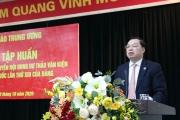 Hội nghị tập huấn cho phóng viên báo chí tuyên truyền nội dung dự thảo văn kiện Đại hội đại biểu toàn quốc lần thứ XIII của Đảng