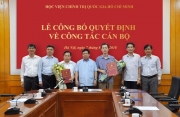 Công bố quyết định bổ nhiệm Phó Tổng biên tập Tạp chí Lý luận chính trị