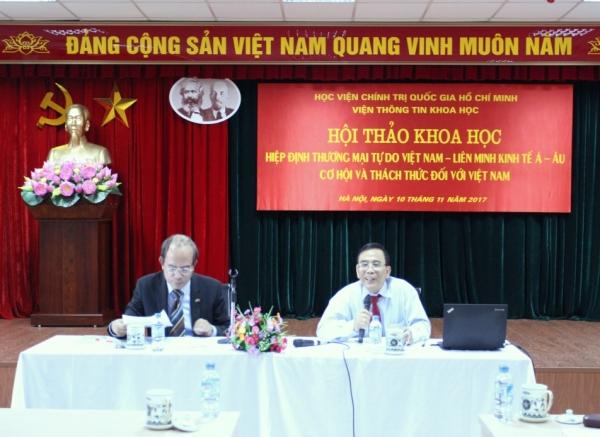 """Hội thảo khoa học: """"Hiệp định Thương mại tự do Việt Nam -Liên minh kinh tế Á -Âu: Cơ hội và thách thức đối với Việt Nam"""""""