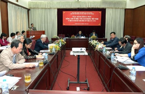 Tọa đàm khoa học: Đồng chí Tô Hiệu với cách mạng Việt Nam