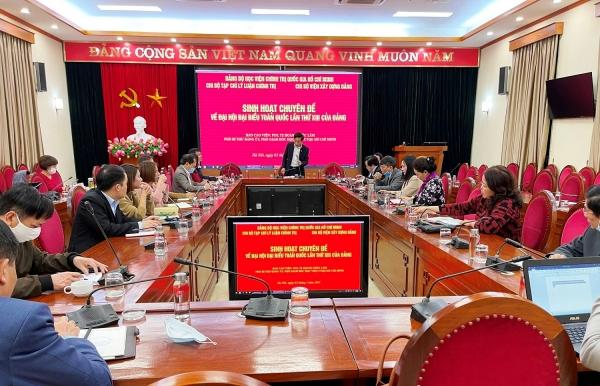 Sinh hoạt Chuyên đề về kết quả Đại hội đại biểu toàn quốc lần thứ XIII của Đảng