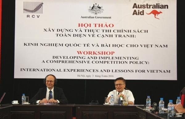 """Hội thảo """"Xây dựng và thực thi chính sách toàn diện về cạnh tranh: Kinh nghiệm quốc tế và bài học cho Việt Nam"""""""