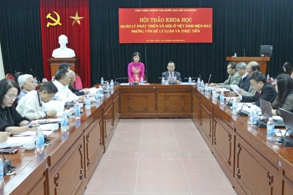 Hội thảo: Quản lý phát triển xã hội ở Việt Nam hiện nay - những vấn đề lí luận và thực tiễn