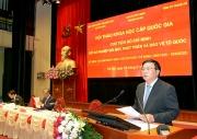 Hội thảo khoa học cấp quốc gia: Chủ tịch Hồ Chí Minh với sự nghiệp đổi mới, phát triển và bảo vệ tổ quốc