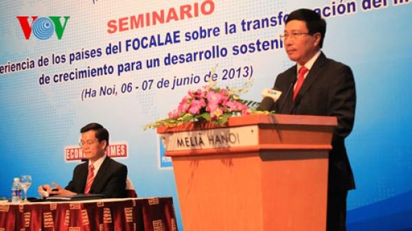 Hội thảo Kinh nghiệm các nước Diễn đàn Hợp tác Đông Á - Mỹ La-tinh về chuyển đổi mô hình tăng trưởng nhằm phát triển bền vững