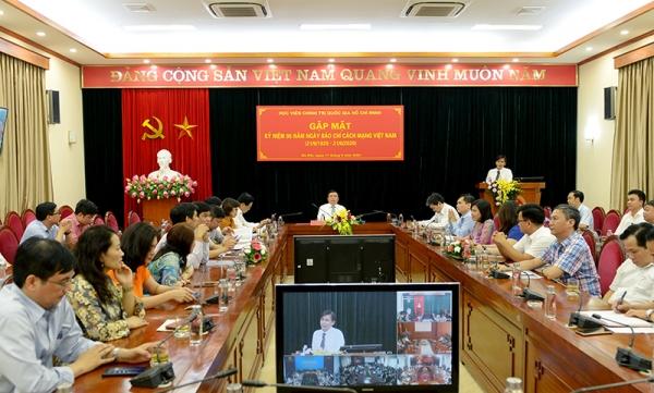 Hội nghị trực tuyến chúc mừng 95 năm ngày Báo chí cách mạng Việt Nam
