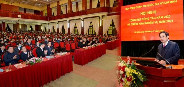 Học viện Chính trị quốc gia Hồ Chí Minh tổ chức Hội nghị trực tuyến tổng kết công tác năm 2020 và triển khai nhiệm vụ năm 2021
