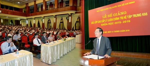 Kiểm tra đánh giá học viên hệ lãnh đạo quản lý tại Học viện Chính trị quốc gia Hồ Chí Minh theo hướng gắn lý luận với thực tiễn
