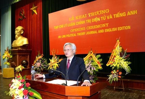 Bài phát biểu của Giám đốc Học viện tại Lễ khai trương Tạp chí Lý luận chính trị điện tử và tiếng Anh