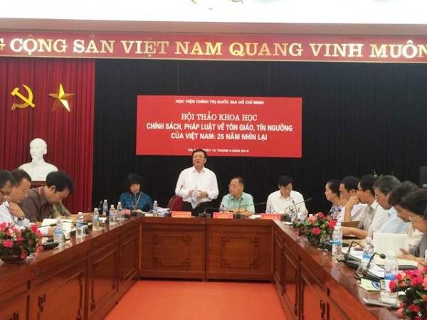 """Hội thảo khoa học """"Chính sách, pháp luật về tôn giáo, tín ngưỡng của Việt Nam: 25 năm nhìn lại"""""""