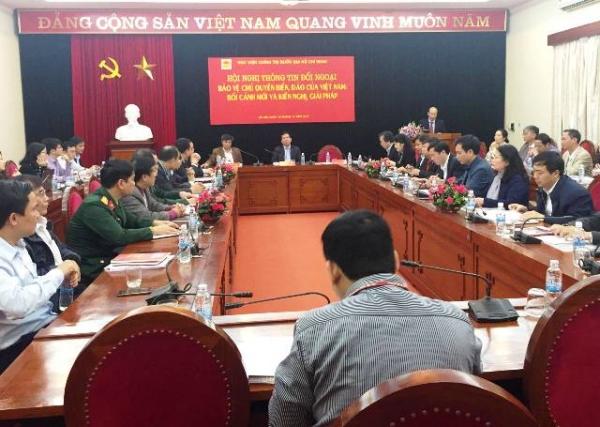 """Hội nghị thông tin đối ngoại """"Bảo vệ chủ quyền biển, đảo của Việt Nam: Bối cảnh mới và kiến nghị, giải pháp"""""""