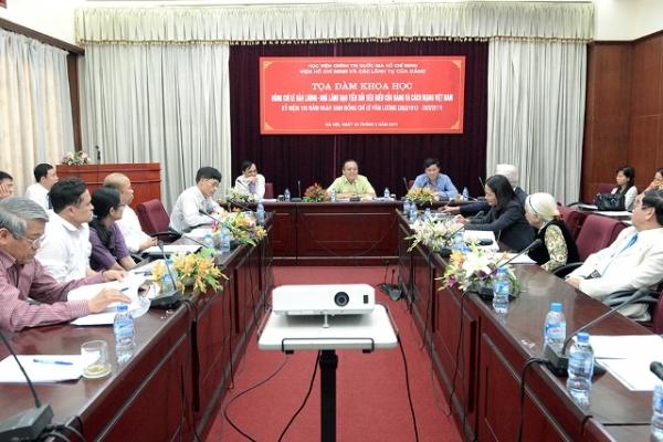 Tọa đàm khoa học: Đồng chí Lê Văn Lương - Nhà lãnh đạo tiền bối tiêu biểu của Đảng và cách mạng Việt Nam