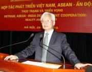 """Hội thảo khoa học quốc tế """"Hợp tác phát triển Việt Nam, ASEAN - Ấn Độ: Thực trạng và triển vọng"""""""